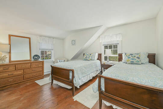 Bedroom #7 with 2 Twin beds, dresser at-21 Pine Street- Harwichport- Cape Cod- New England Vacation Rentals