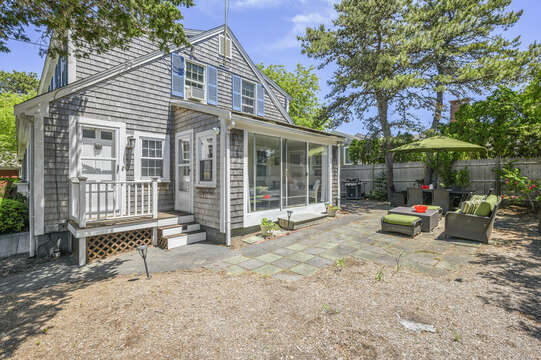 Relax on the patio at-21 Pine Street- Harwichport- Cape Cod- New England Vacation Rentals