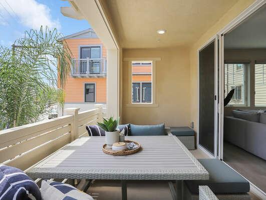 Second Floor - Deck w/ Outdoor Furniture and Bar Cart