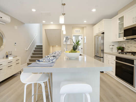Fully Stocked Kitchen w/ GE Monogram Stainless Steel Appliances