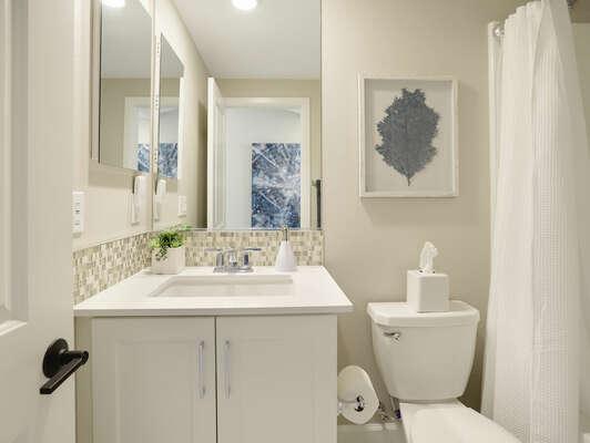 Third Floor - Shared Bathroom w/ Tub Shower Combo