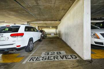 Reserved parking space on 3rd floor.