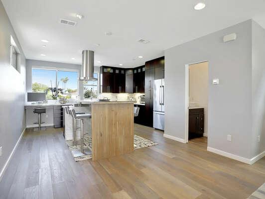 Kitchen & Shared Half Bathroom - 3rd Floor