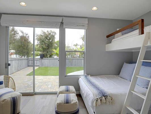 Guest Bedroom w/ Twin Over Queen Bunk - 2nd Floor (Entry Level)
