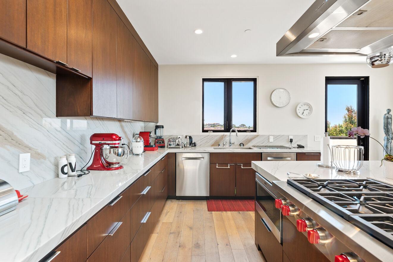 Hi end professional grade stainless steel appliances and gas range