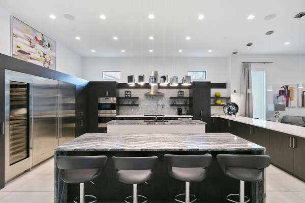 Enjoy a homecooked meal made in a fully equipped kitchen