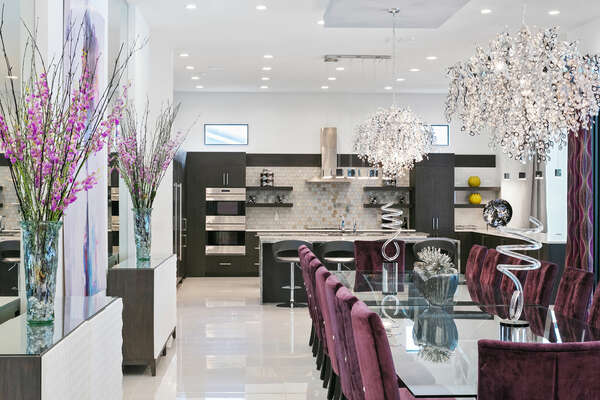Beautifully design to dining area