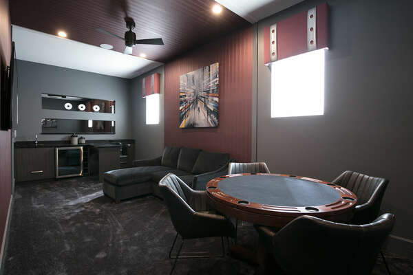 Play a game of poker in the den