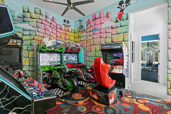 Kids will love their secret game room attached to both kids bedrooms