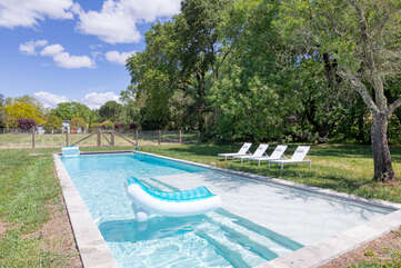 Relax by the pool with large wading area