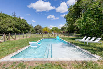 The gorgeous grounds and private swimming pool are always only steps away