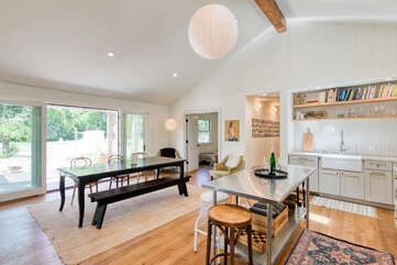 The open floor plan adds to the comfortable, at-home ambience you'll find here