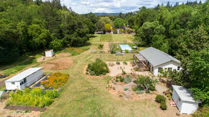 Secluded home situated on almost 3.5 acres in Dry Creek Valley
