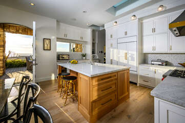 Enjoy the modern feel of this amazing kitchen with breath-taking views.