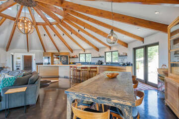 Ample dining space to gather with family and friends