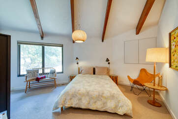 The first guest bedroom is spacious and has everything you need for a relaxing evening