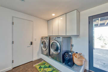 Full sized washer and dryer are available for your use