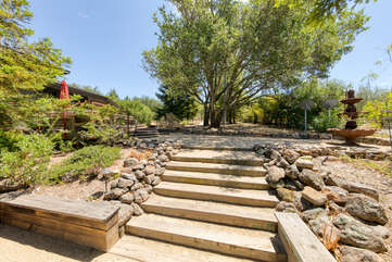 Natural landscape is utterly breathtaking and special additions like the charming fountain can be found