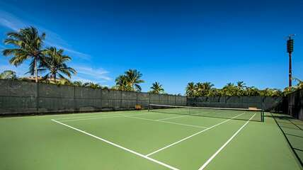 Tennis court at the complex
