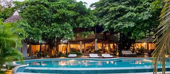 The outdoor of Villa Batu, one of the 3 villas that form The Combo Estate