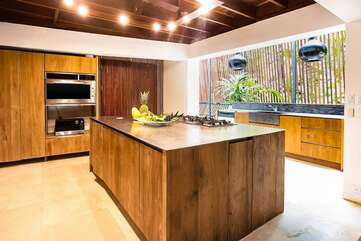 Another of the fully equipped and modern kitchens
