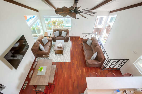 Aerial View of Living Area