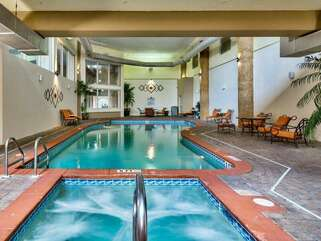 Indoor hot tub and pool