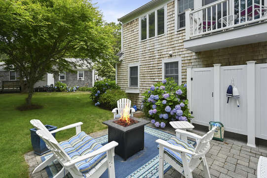 Firepit and outdoor shower -  26 Sea Mist Lane South Chatham Cape Cod - New England Vacation Rentals