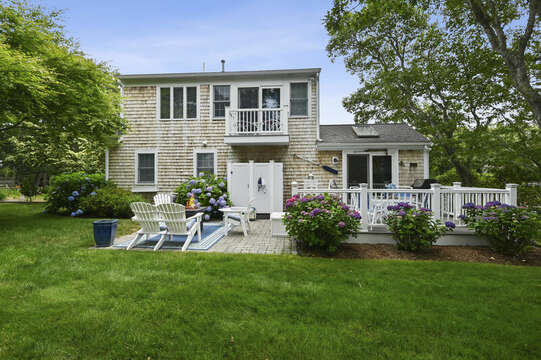 Private backyard for entertaining and vacation fun -  26 Sea Mist Lane South Chatham Cape Cod - New England Vacation Rentals