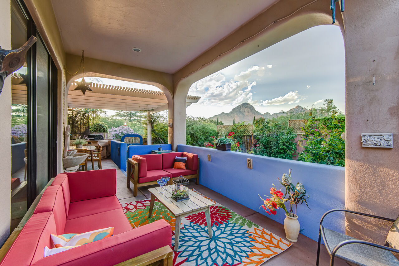 Covered Patio with Red Rock Views