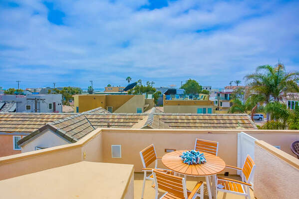 Roof Deck w/ Ocean & Bay Views