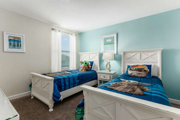 A cute kid room for your kids to sleep in.