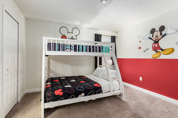 Another room with a bunk bed for the kids.