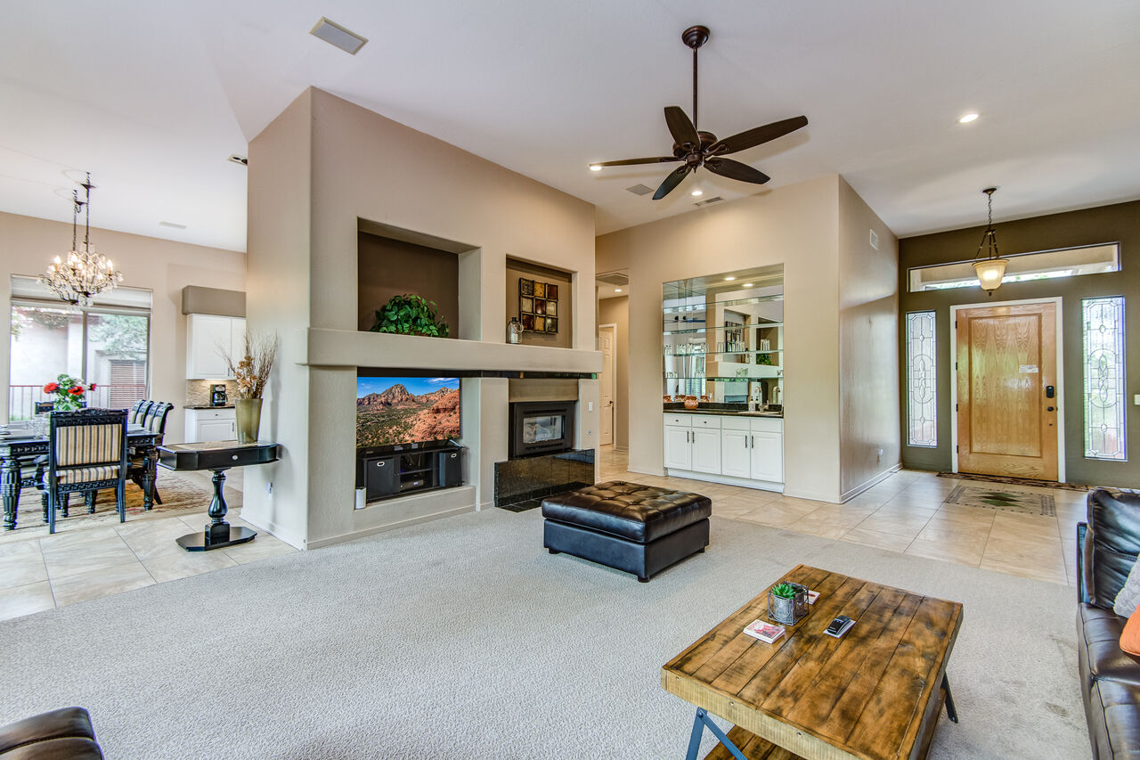 Entry into the Spacious Living Room