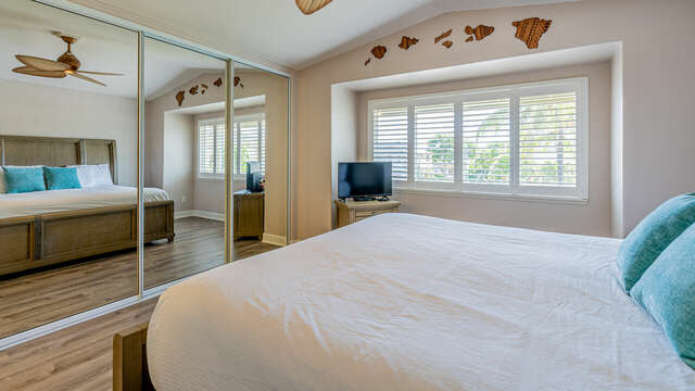 Lots of Windows to let in the Light in the Master Bedroom