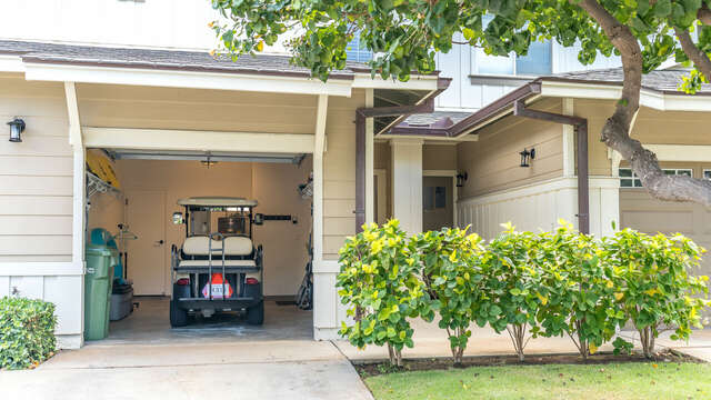 This Home Comes Complete with a Golf Cart for Easy Access to the Beaches and Restaurants in the Resort