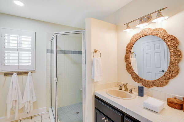 Shared Bathroom w/ Shower - Entry Level (2nd Floor)