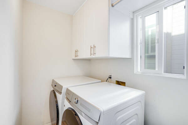 Washer/Dryer in Shared Bathroom - Entry Level (2nd Floor)