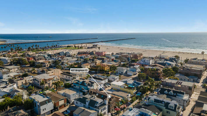 Aerial View - South Mission Beach Location