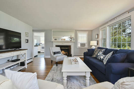 Living room with kitchen entrance - 113 South Street Harwich Port - Cape Cod - New England Vacation Rentals