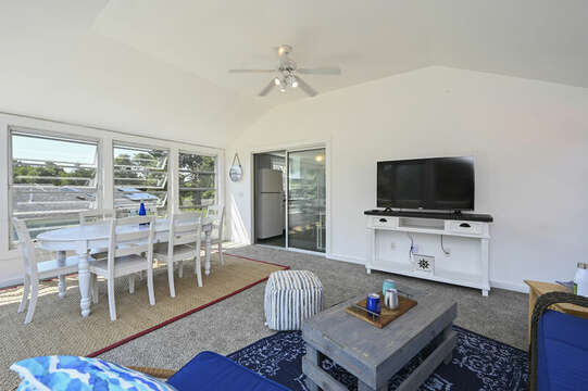 Sun room with sitting area and dining area - 113 South Street Harwich Port - Cape Cod - New England Vacation Rentals
