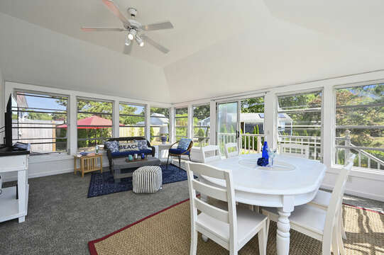 Dining table for 6 in the sun room - 113 South Street Harwich Port - Cape Cod - New England Vacation Rentals