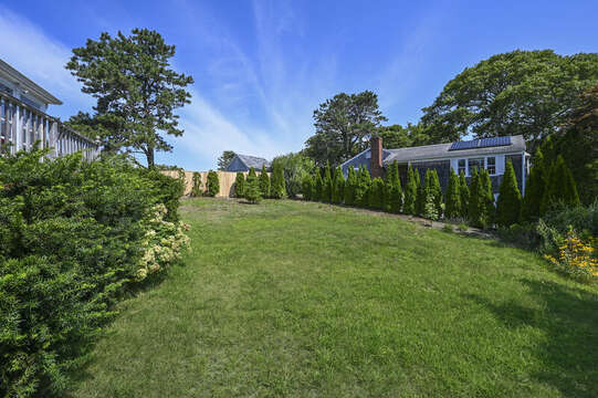 Large back yard at 113 South Street Harwich Port - Cape Cod - New England Vacation Rentals