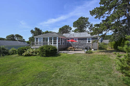 Back yard at 113 South Street Harwich Port - Cape Cod - New England Vacation Rentals