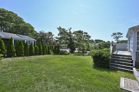 Back yard and entry to sun room - 113 South Street Harwich Port - Cape Cod - New England Vacation Rentals
