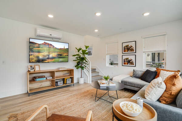 Living Room w/ Edgy California Coastal Design - 1st Floor