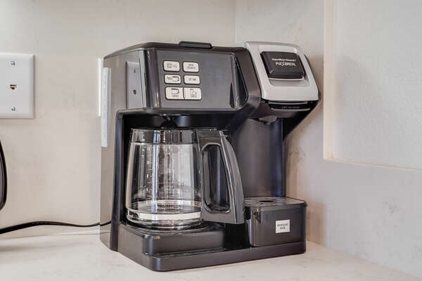 Dual Coffee Maker (Takes K-Cups & Grounds)