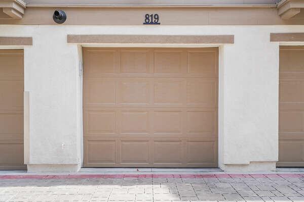 Exterior of Garage (2-Car Tandem w/ Narrow Opening)