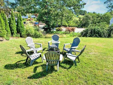 Enjoy the fire pit with friends at-113 South Street Harwich Port - Cape Cod - New England Vacation Rentals