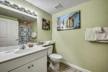 3rd bathroom (adjacent to bunk beds)